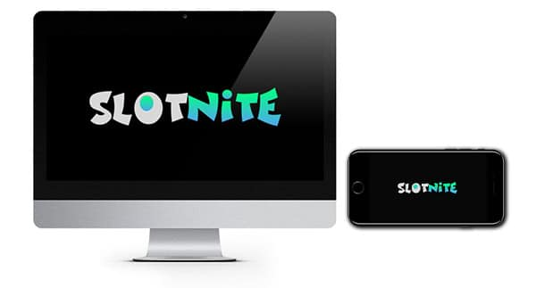 Slotnite Casino Logo on screen