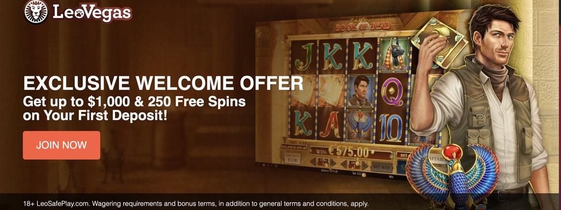 leovegas 250 free