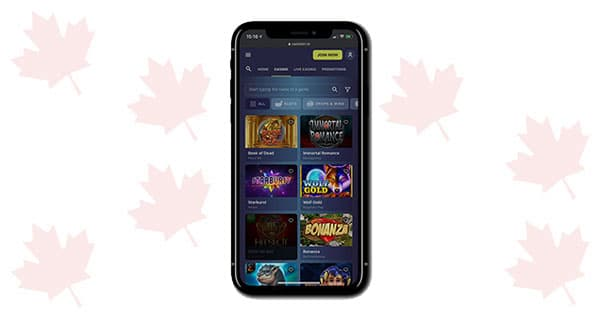 Casinoin on mobile