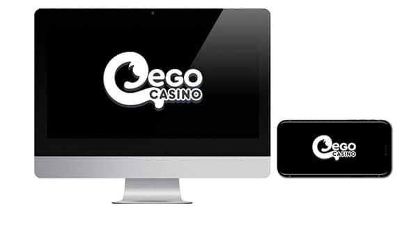 Ego Casino Logo on screen