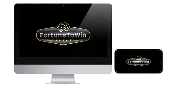 FortuneToWin Casino logo on screen