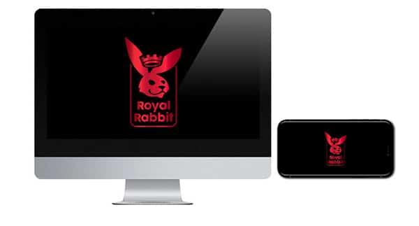 Royal Rabbit Casino Logo on screen