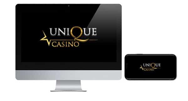 Unique Casino logo on screen
