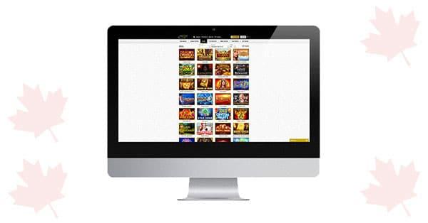 Unique Casino on desktop