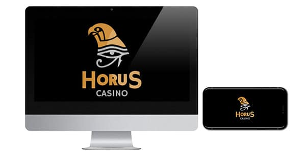 Horus Casino Logo on screen
