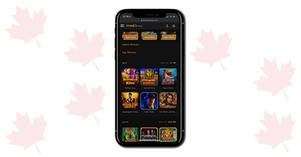 Horus Casino on mobile
