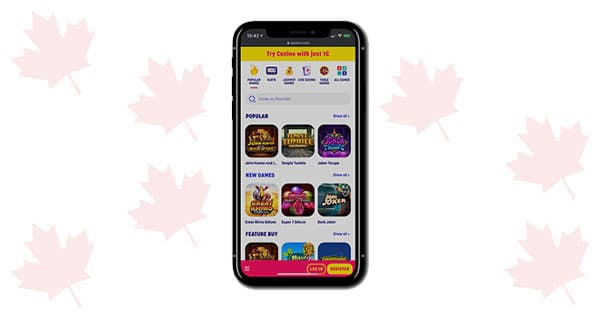 Caxino Casino on Mobile
