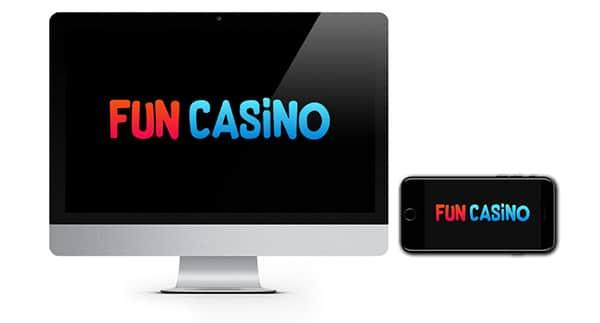 Fun Casino Logo on device screen