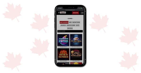 Skor Casino di ponsel