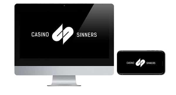 Logo Casino Sinners pada perangkat