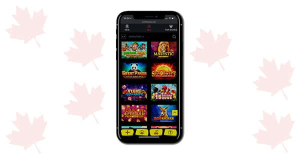 Lobi permainan SlottyWay Casino Mobile