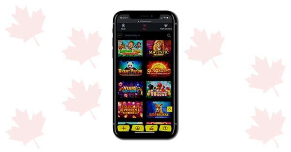 Lobi permainan SlottyWay Casino Mobile