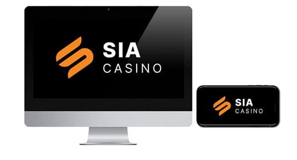 SIA Casino Logo on screen