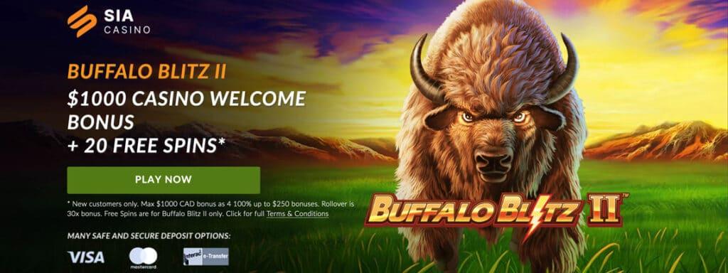 sia casino buffalo blitz free spins