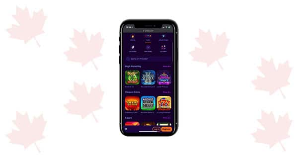 Wheelz Casino mobile screenshot