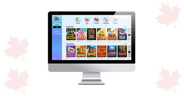 Lobi desktop CasinoFriday