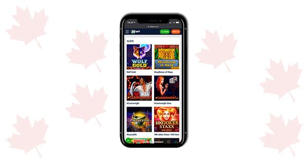 20Bet Casino Mobile screenshot