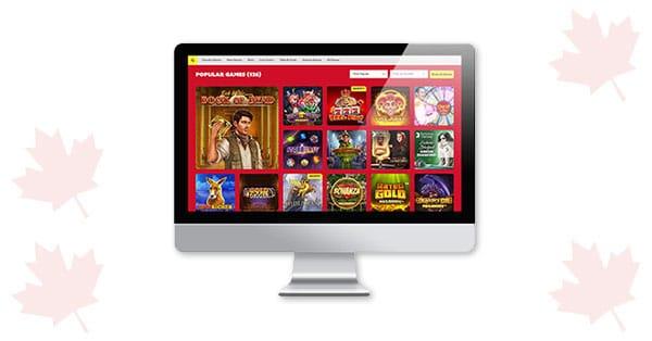 Lobi desktop Funbet Casino