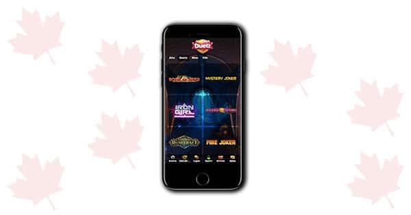 Duelz Casino Mobile