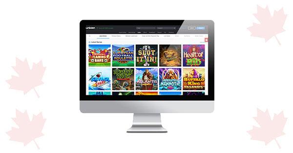 Unikrn Casino desktop screenshot