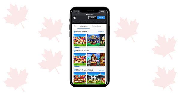 Unikrn Casino mobile screenshot