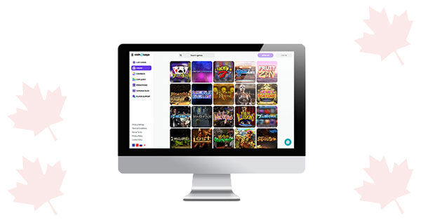 CoinSaga online Casino lobby